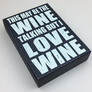 Wine Lover's Wooden Box Sign Decor Art